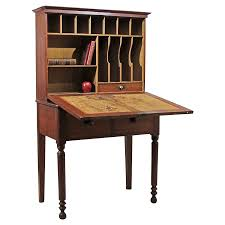 Secretary Writing Desk by Early 19th C Grain Painted Step Back Drop Front Desk Or Secretary
