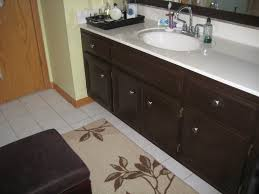 Bathroom Cabinet Painting Ideas Painting Dark Wood Bathroom Cabinets Diy Painted Bathroom