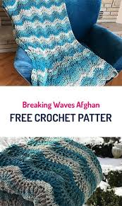 free crochet patterns for home decor breaking waves afghan blanket free crochet pattern crochet yarn