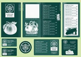 vegetarian menu templates download free vector art stock