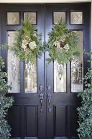 Patio Window Christmas Decorations best 25 double door wreaths ideas on pinterest entry doors with