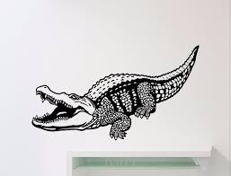 Interior Crocodile Alligator Crocodile Wall Decal Croc Reptile Alligator Vinyl Sticker Home