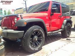 matte red jeep jeep wrangler xd series xd778 monster wheels matte black