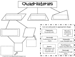 quadrilateral graphic organizer freebie lines angles and