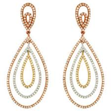 White Gold Diamond Chandelier Earrings Royal Archives Jewels By Tashne