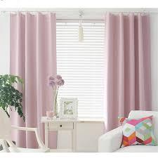 Short Length Blackout Curtains 2017 New Korean Solid Color Short Blackout Curtains For Bedroom