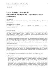 pianc wg 40 guidelines for the design and construction of berm