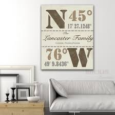 house warming gift family latitude longitude by rockincanvas