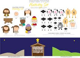 would be cute to put on blocks for kids nativity set christmas