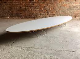 mid century modern surfboard coffee table eames elliptical coffee table for herman miller surfboard mid