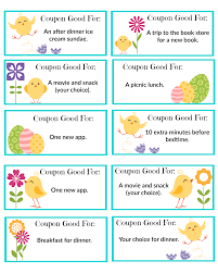 free printable easter coupons the shady lane