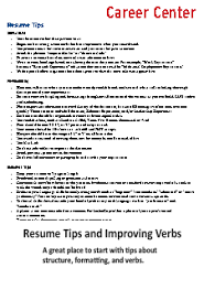 Resume For On Campus Job by Resume Cv And Guides Student Affairs