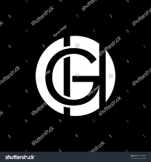 Types Of Business Letters And letters g h circle monogram logogreat stock vector 721793653