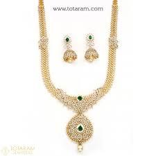 18k diamond necklace sets vvs quality e f color indian gold