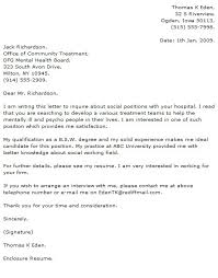 Example Social Work Resume by Social Work Cover Letter Cover Letter Example 5 Social Work Cover