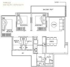 singapore executive condominium ec showflat floor plan