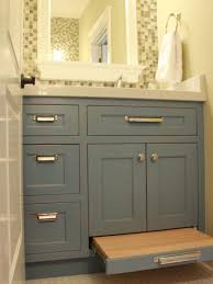 bathroom cabinet storage ideas nickel drawers pulls glossy black