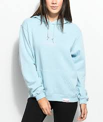 diamond supply co mini og sign light blue hoodie zumiez
