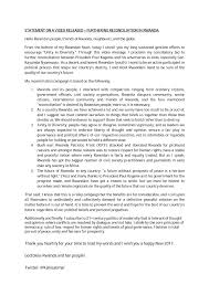 benefits of thanksgiving to god rwanda political reconciliation declaration rwanda and the future