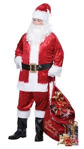 santa costumes california costumes men s classic santa suit