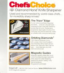 chef u0027s choice diamond hone 3 stage electric knife sharpener