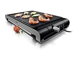 cuisine plancha facile philips hd4418 20 plancha thermostat amovible métal noir 2300w