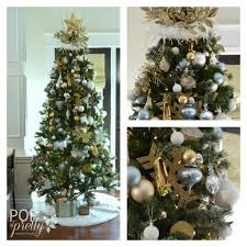 green and gold tree lights decoration