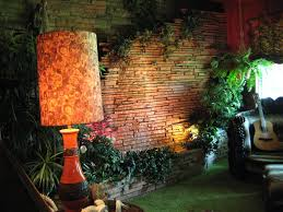 sample ideas for living room with fountain wall and plants home