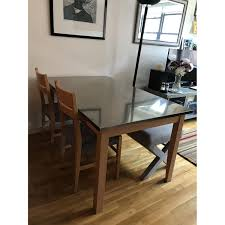 Crate And Barrel Dining Room Table by Crate U0026 Barrel Dining Table W 2 Chairs 1 West Elm Aptdeco