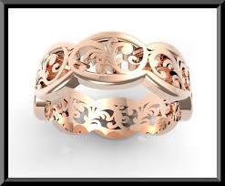 weddings rings designs images Rose gold wedding band leaves vidar jewelry unique custom jpg