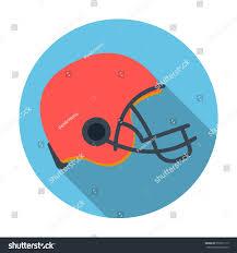 american football helmet icon flat style stock illustration