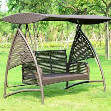 Hanging Garden Chairs Outdoor Swing Hanging Chair Rattan Rocking Wrought Iron Terrace