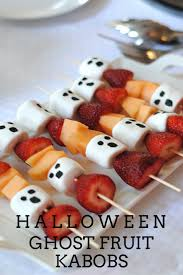 halloween ghost fruit kabobs halloween ghosts kabobs and