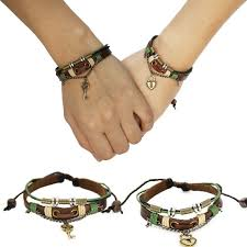 s day bracelet leather couples bracelet boyfriend gift gift heart lock
