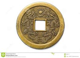 old chinese feng shui lucky coin royalty free stock photography