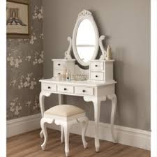 antique french vanity set works well alongside our shabby chic