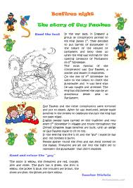 thanksgiving cloze 19 free esl guy fawkes worksheets