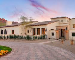 spanish style ranch homes spanish ranch remodel with round window and courtyard design
