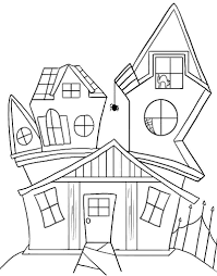 haunted house color sheets google search boo pinterest