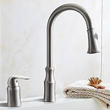 Satin Nickel Kitchen Faucet Pacific Bay Grandview Gooseneck Style Kitchen Faucet In Brushed
