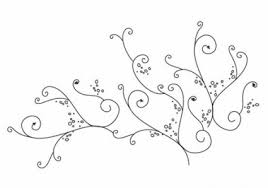 floral swirl ornament vector vector floral free vector free