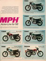 1968 triumph motorcycles sales brochure collectors weekly