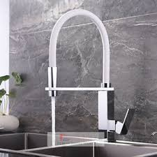 new chrome pull out kitchen faucet square brass kitchen mixer sink white pull out spout brass chrome square kitchen sink mixer
