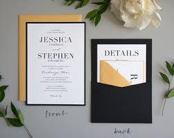 black tie wedding invitations black tie wedding etsy