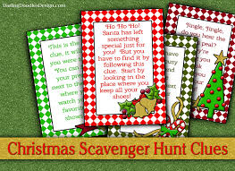 thanksgiving treasure hunt christmas scavenger hunt cards darling doodles