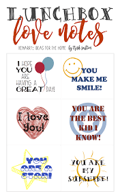 back to lunchbox love notes for kids free printable