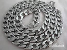 titanium curb chain necklace images 2018 men 39 s cool fine titanium steel chain curb necklace 20 from jpg