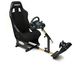 Racing Simulator Chair Gameracer Elite Racing Simulator Gaming Chair Black Interactive