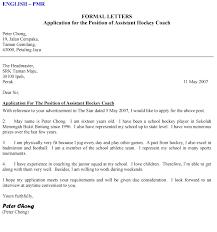 formal business letter format official letter sample template