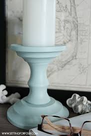 painted candlesticks beautiful diy home decor setting for four